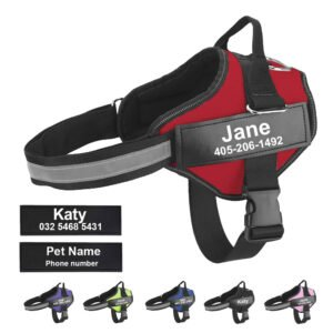 Dog Harness - Custom ID Patch Outdoor Walk